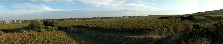 panoramic of Beaune north in October