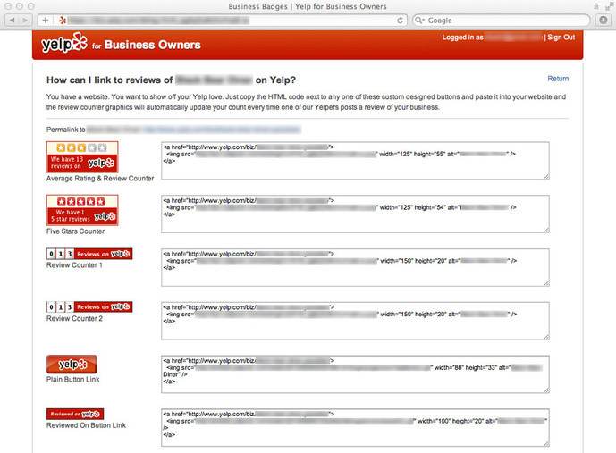 How to add a Yelp badge to your website - Jimdo Support Center ...
