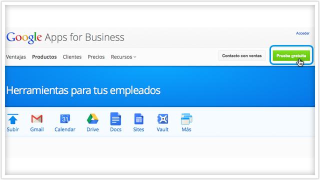Google Apps página