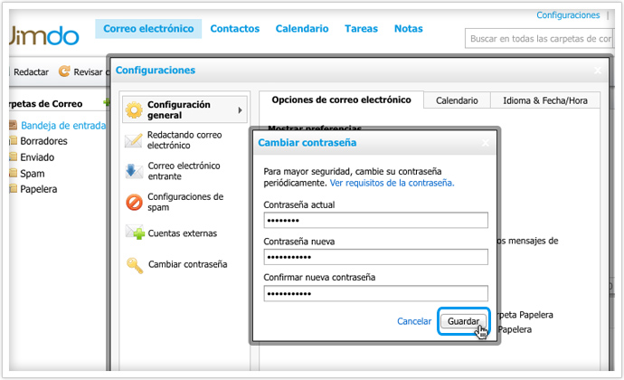contraseña email