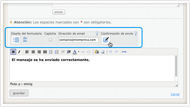 módulo formulario