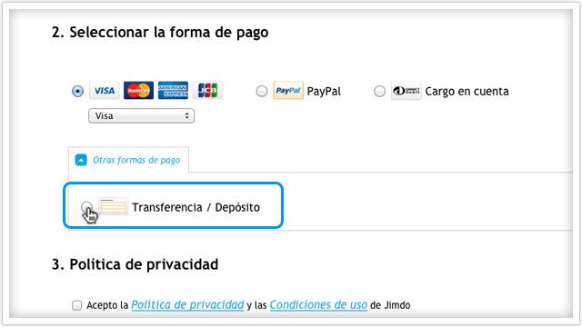 pago con transferencia