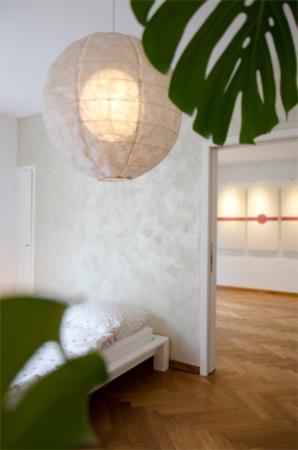 Wandgestaltung farbige Wände Schlafzimmer Champagner Kunsthandwerk Wunderbar Zürich
