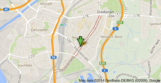 Google Maps Duisburg Sternbuschweg