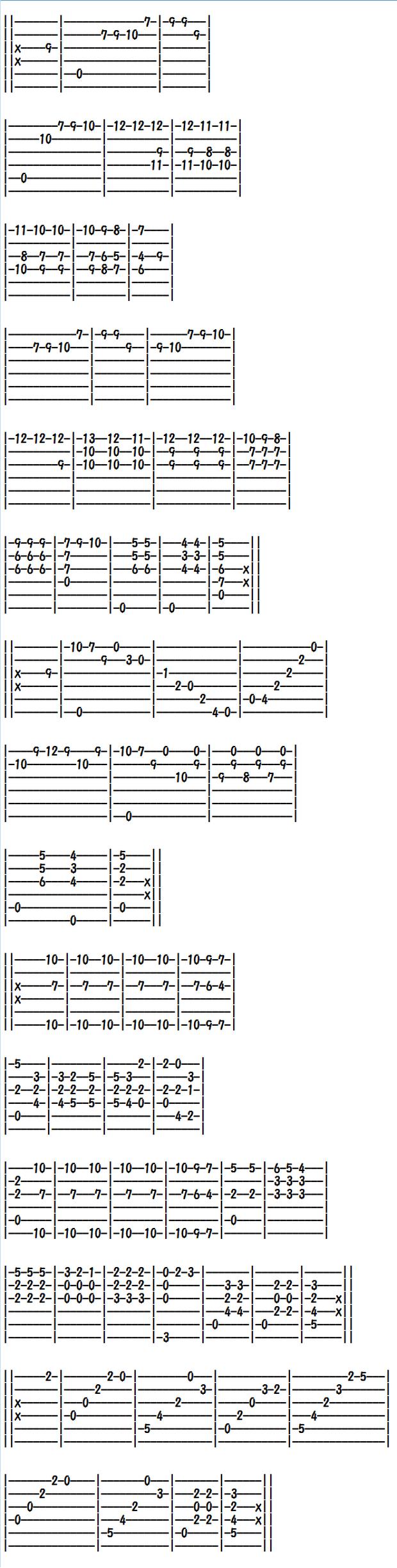 クラシックギター楽譜(タブ譜)レニャーニのカプリース第7番(1)