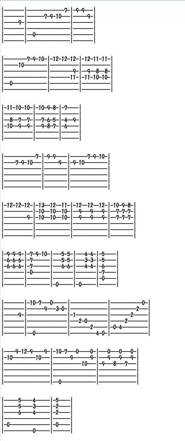 クラシックギター楽譜(タブ譜)レニャーニのカプリース第7番(2)