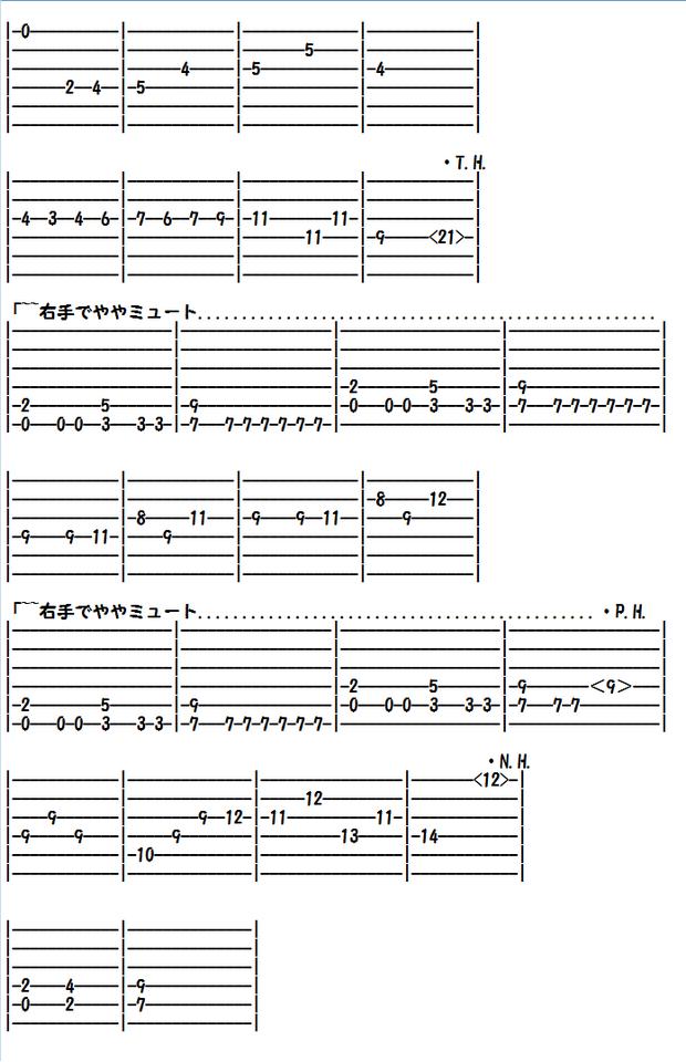 エレキギター無料楽譜(タブ譜)、クラシック編曲、クシコス・ポスト