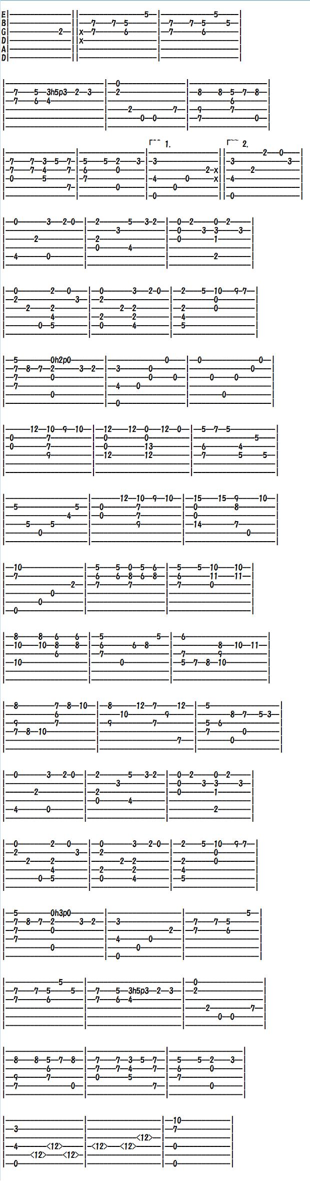 無料クラシックギター、ソロギター、アコギの楽譜(タブ譜)、クリスマスキャロル