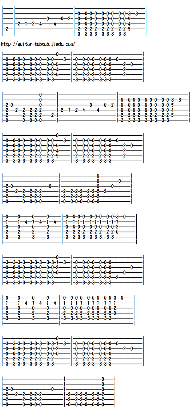 ソロギター、クラシックギター、エレキギター無料楽譜(タブ譜)コンドルは飛んでいく(El Cóndor Pasa)