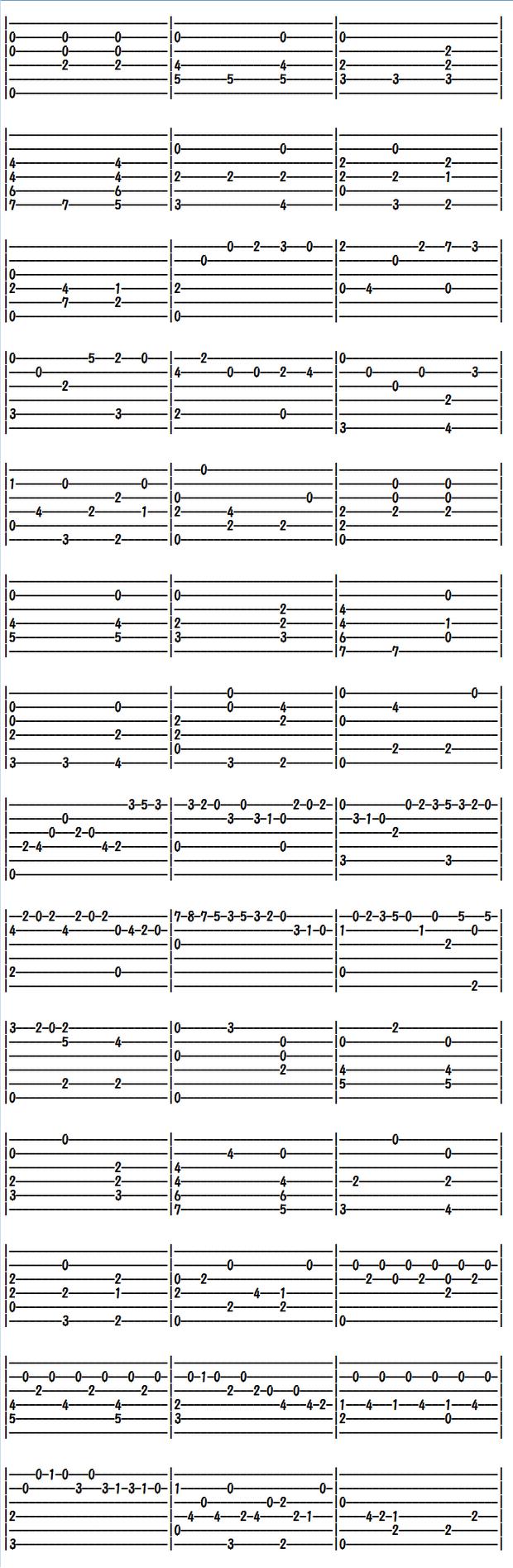 クラシックギター楽譜(タブ譜)シャコンヌ(1)