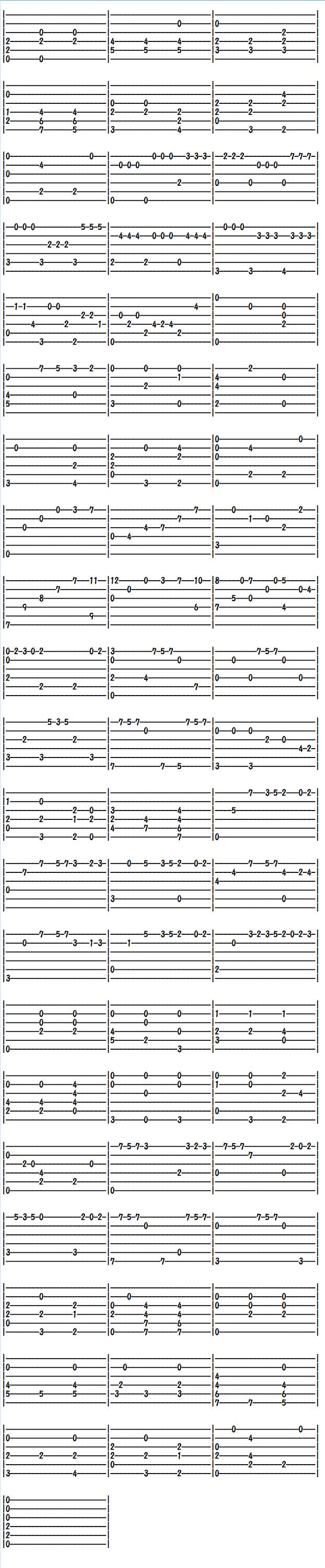 クラシックギター楽譜(タブ譜)シャコンヌ(2)