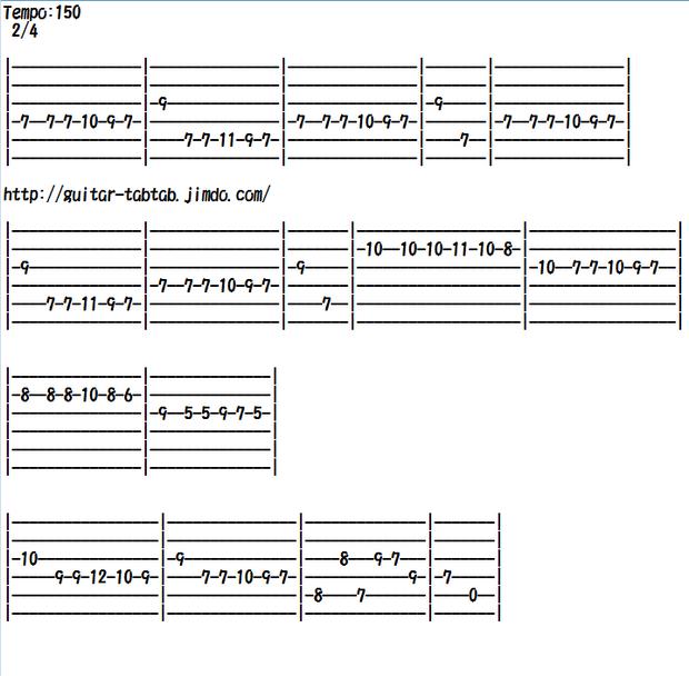 エレキギター無料楽譜(タブ譜)、クラシック編曲、パガニーニの24の奇想曲(カプリース)