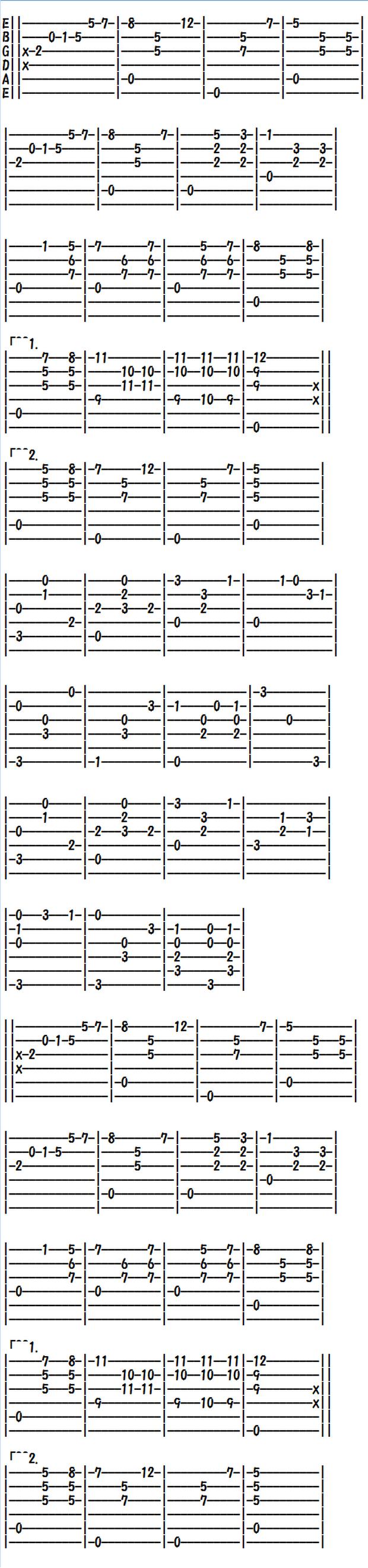 クラシックギター(TAB譜)マリア・ルイサ