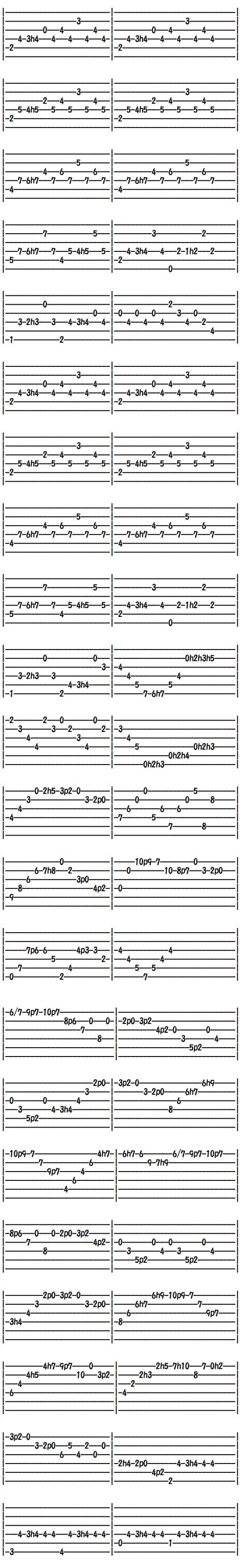 クラシックギター無料楽譜(タブ譜)バリオスの大聖堂第三楽章(2)