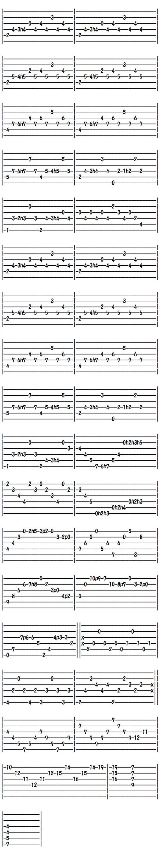 クラシックギター無料楽譜(タブ譜)バリオスの大聖堂第三楽章(3)
