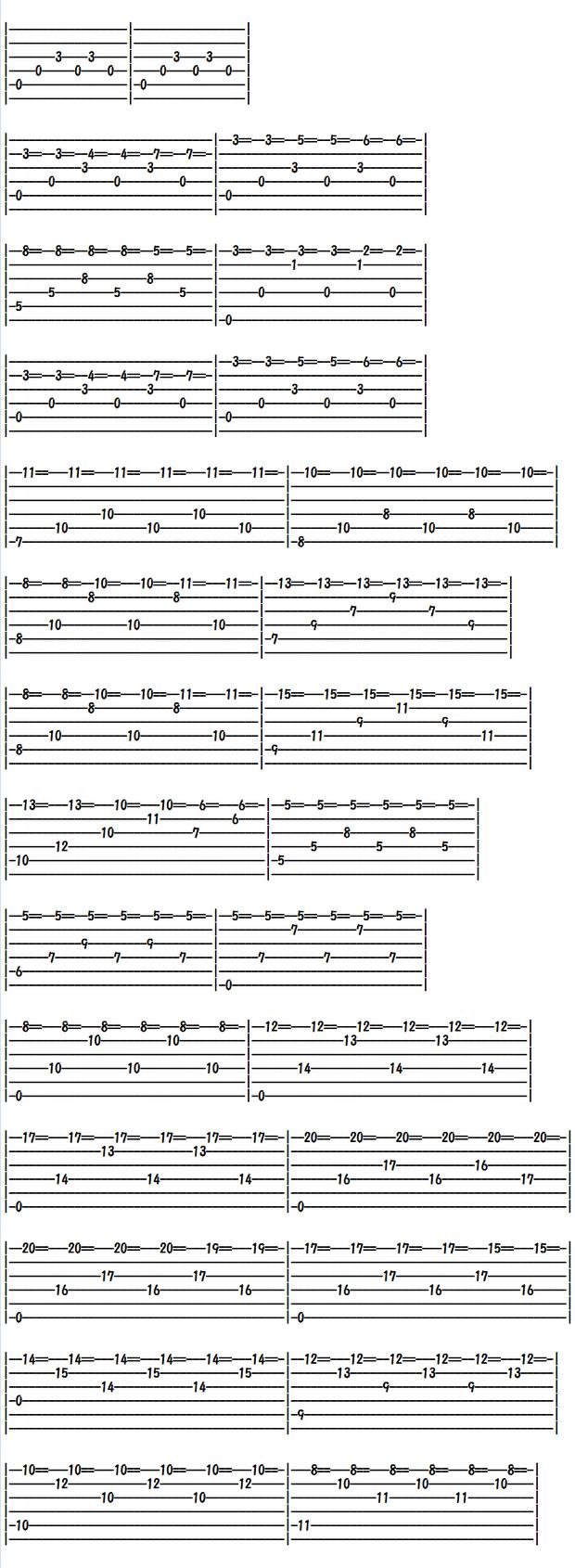 Classical Guitar TAB Score/Un sueño en la Floresta/森に夢見る