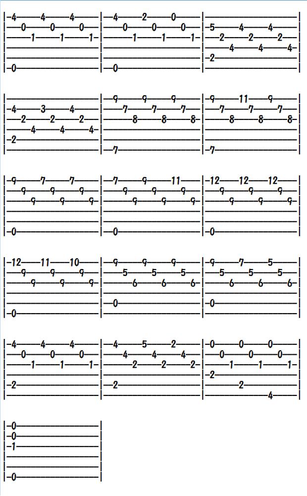クラシックギター楽譜(TAB譜)禁じられた遊び