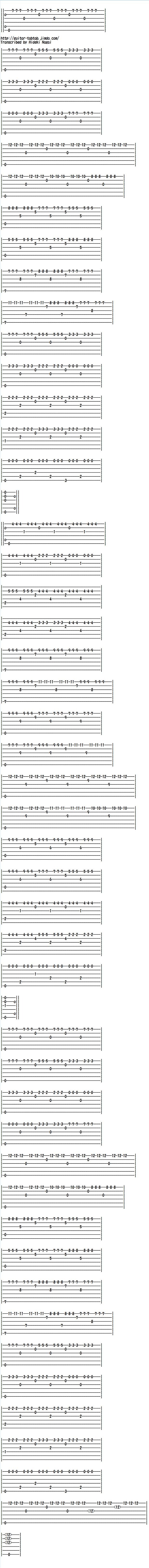 クラシックギター楽譜(TAB譜)トレモロで弾く禁じられた遊び