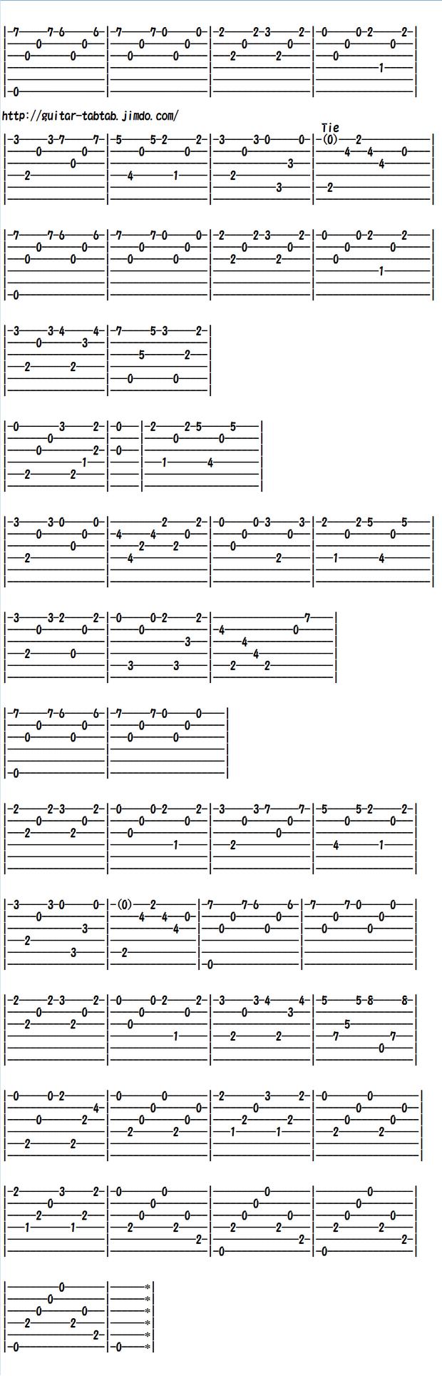 クラシックギター初心者向け練習曲 ソルの練習曲OP.60 No.12 Em