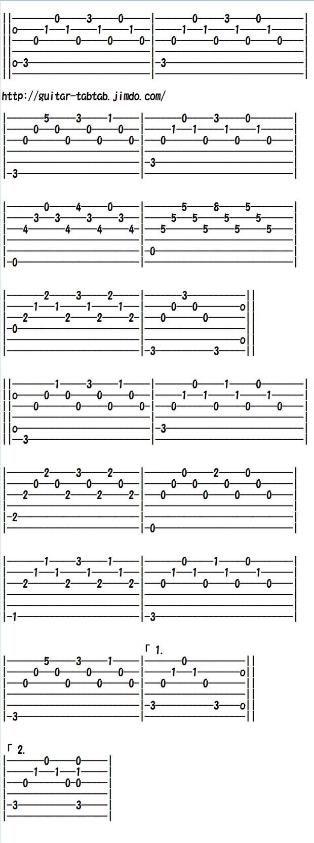 クラシックギター初心者向け練習曲 タルレガの練習曲Cメジャー