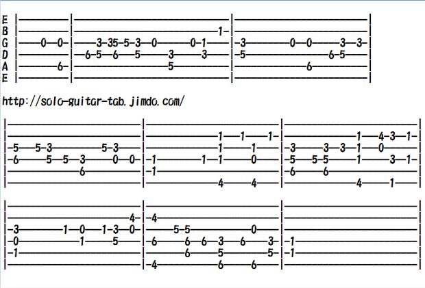 Easy Classical Guitar Sheet Music (Tabs), Aogeba Totoshi