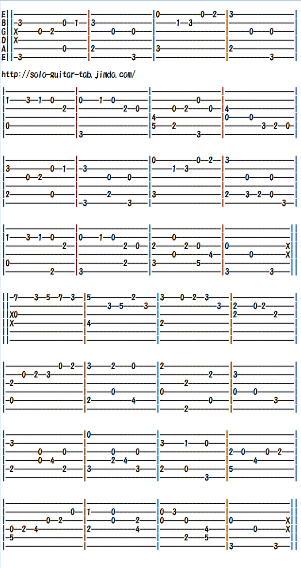 Easy Classical Guitar Sheet Music (Tabs), Bach's Minuet BWV Anh.114