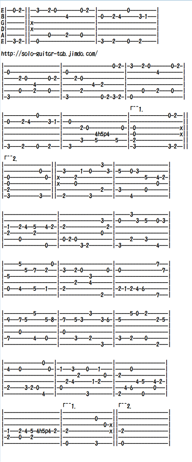 Classical Guitar Tabs (Easy/Standard) - Classical