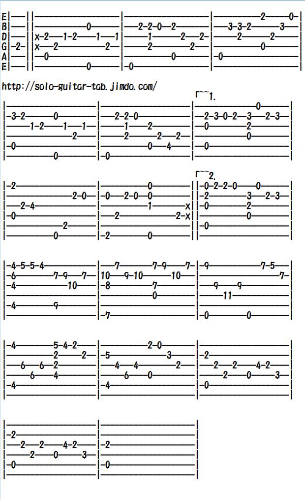 Easy Classical Guitar Sheet Music (Tabs), Chopin's Etude Op.10 No.3