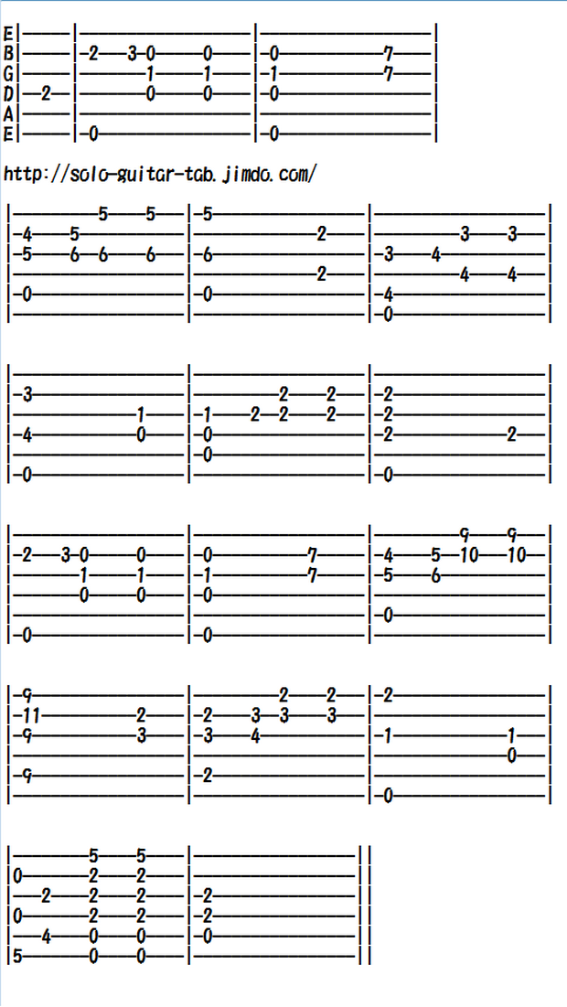 Easy Classical Guitar Sheet Music (Tabs), Chopin's Prelude Op.28 No.7
