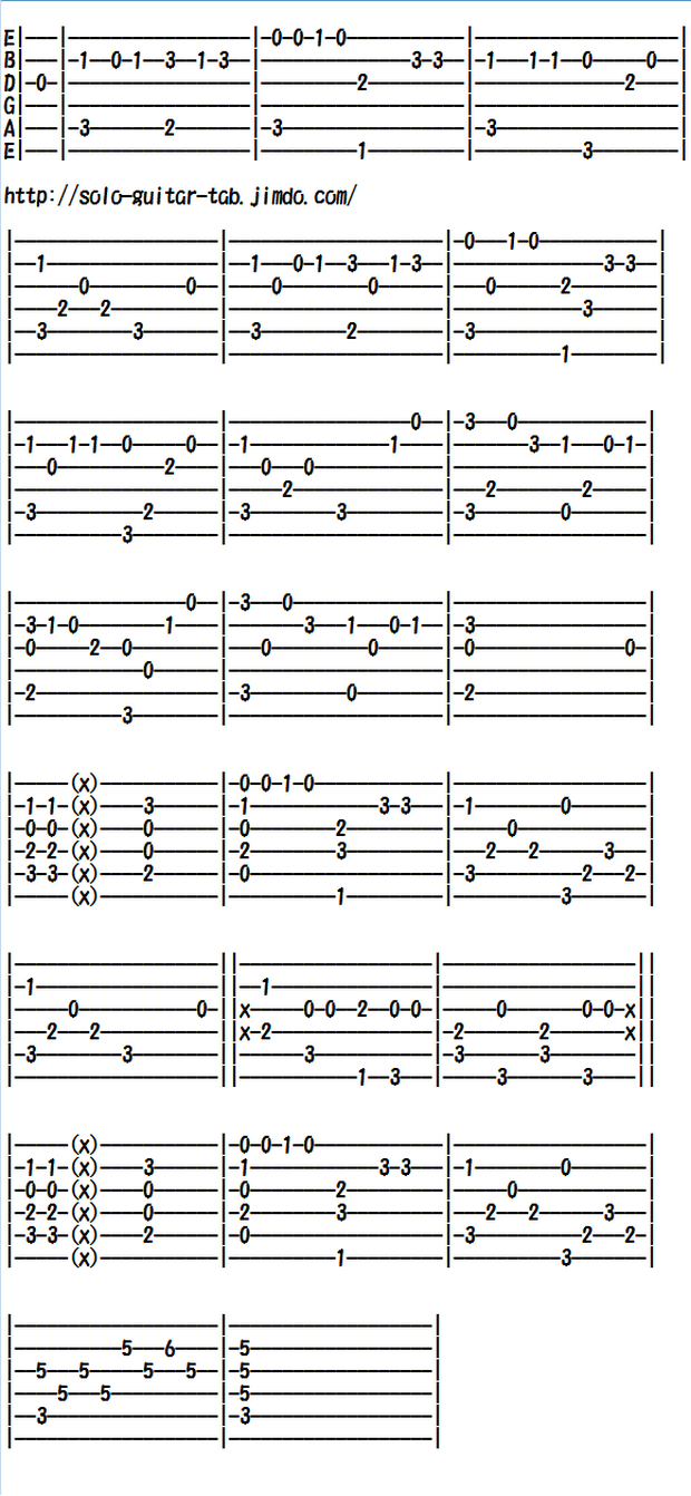Easy Classical Guitar Sheet Music (Tabs), My Grandfather's Clock