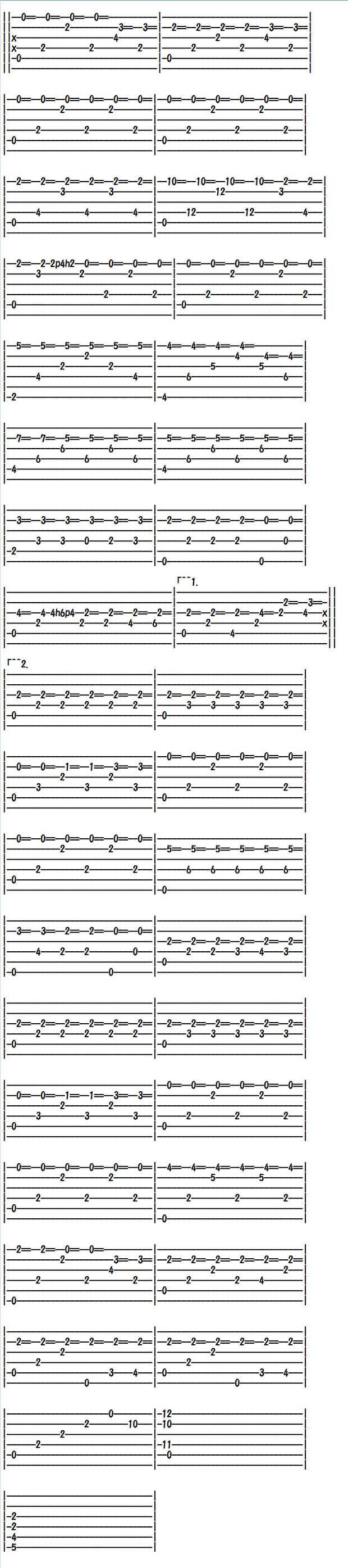 Advanced Classical Guitar Sheet Music (Tabs), Recuerdos de la Alhambra 2/2