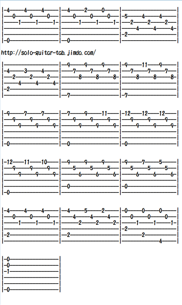 Easy Classical Guitar Sheet Music (Tabs), Romance Anonimo