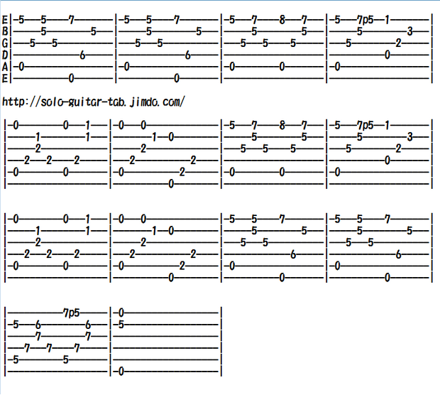 "Guitar guitar tabs easy : Sakura Sakura ""Cherry blossoms"" - Classical/Traditional music for ..."