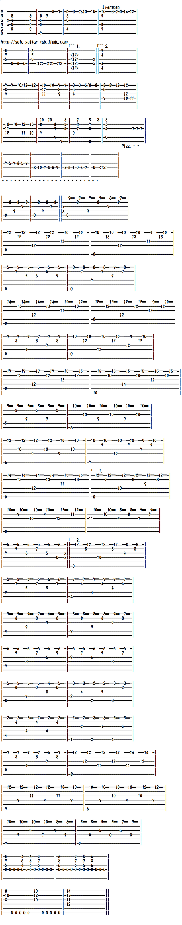 Hardest Classical Guitar Sheet Music (Tabs), Un Sueno en la Floresta