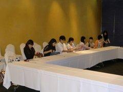 軽井沢スイーツ博コンテスト2012 選手ミーティング