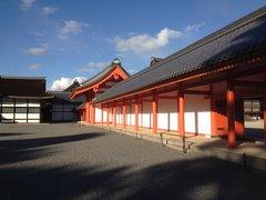 京都御所にて