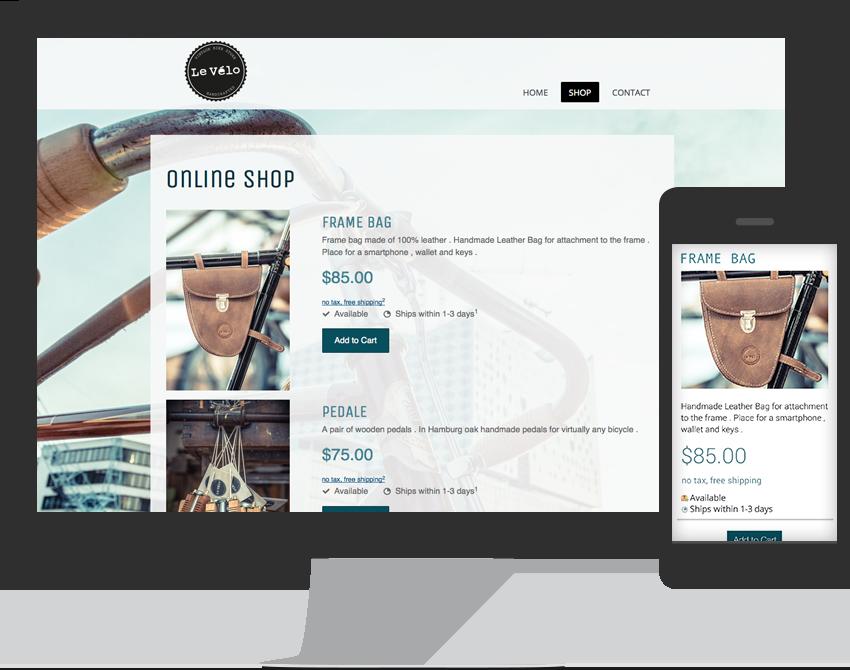Funzione e-commerce disponibile