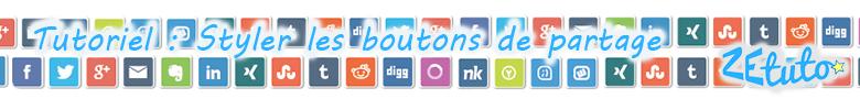 Tutoriel bouton de partage