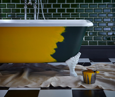 Freie Farbgestaltung Badewanne