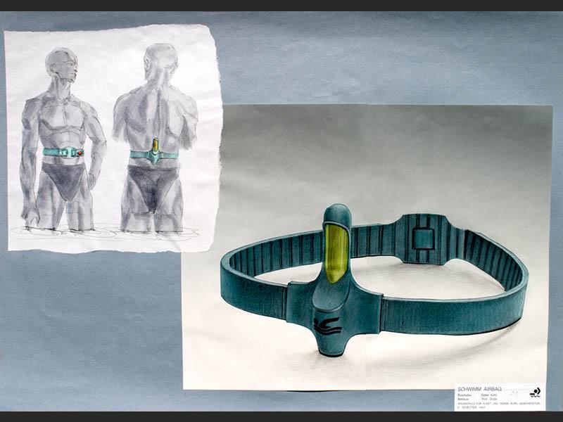 design-zug-035-baderettung-industriedesign-innovativer-rettungsgurt-für-wassersport- surfer-und-segler-1992-01