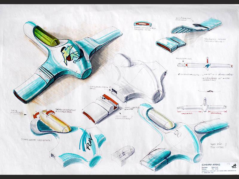 design-zug-040-baderettung-industriedesign-innovativer-rettungsgurt-für-wassersport- surfer-und-segler-1992-06