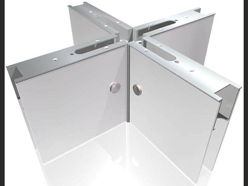 Messebau System 4er Wandelement mit Aluminium Profil