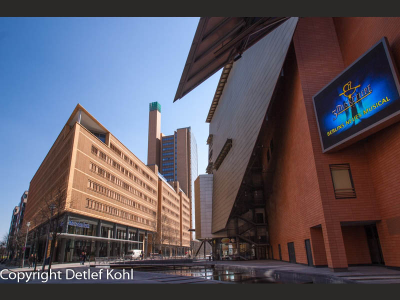 Eindruck in Beton gebaut Berlin Potsdamer Platz