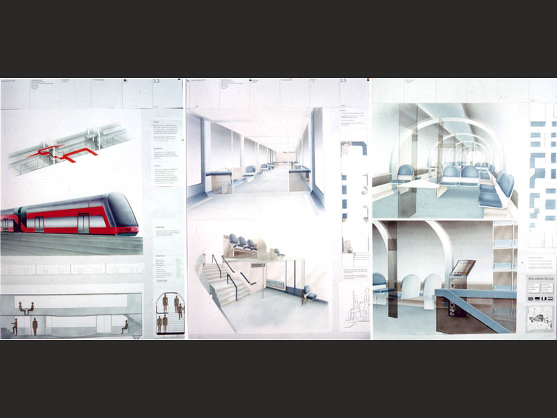 Transportation Industrial Design Kurz Doppelstock Zug Konmzept
