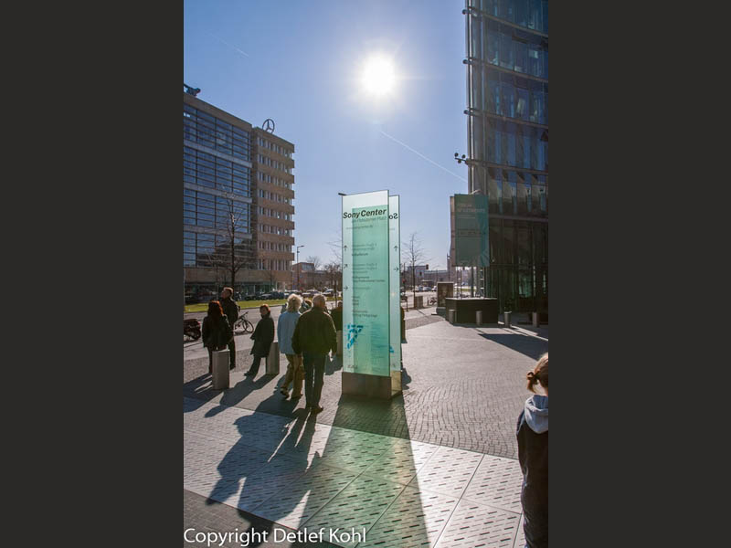 Licht und Schatten in der Stadt Berlin Potsdamer Platz