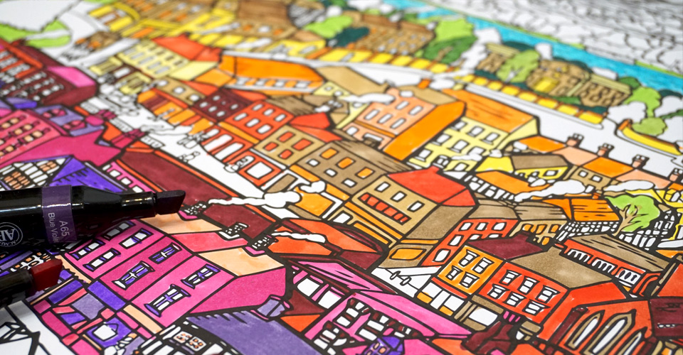 colouring posters - adult colouring in