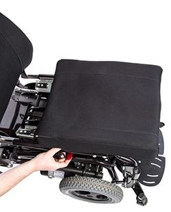 Gleitsitz am Rollstuhl