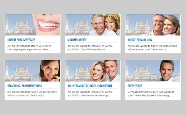 Alle Webseiten der Zahnärztin Gregorek Augsburg