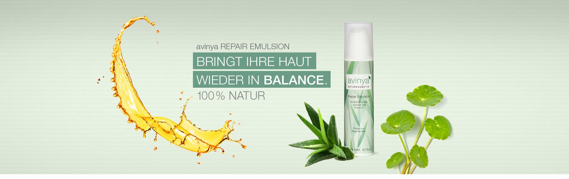 avinya REPAIR EMULSION - Bringt die Haut wieder in Balance.