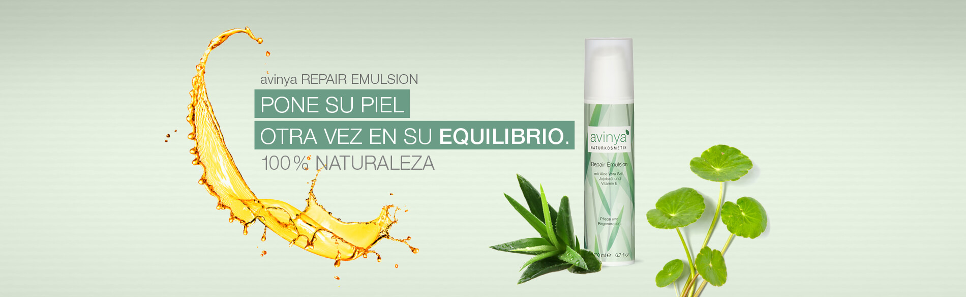 avinya REPAIR EMULSION - BRINGS YOUR SKIN BACK INTO BALANCE.